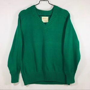 Natural Reflections V Neck Green Sweater